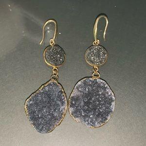 Druzzy drop earrings